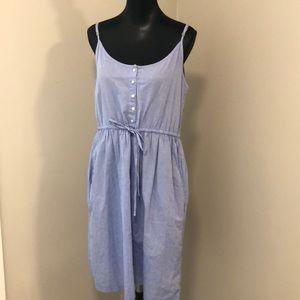 H & M LOGG Chambray Dress Sz M